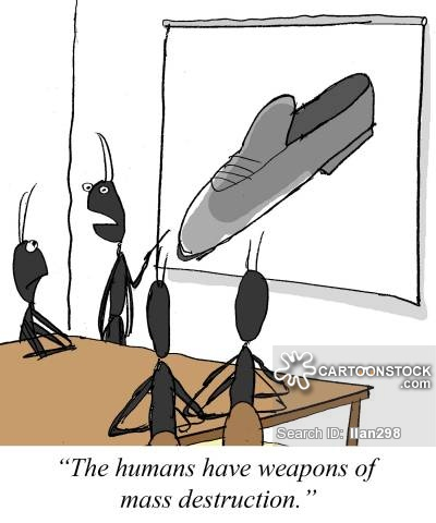 'The humans have weapons of mass destruction.'