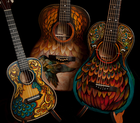 Hand-painted-instruments-Lichty-Guitars-9